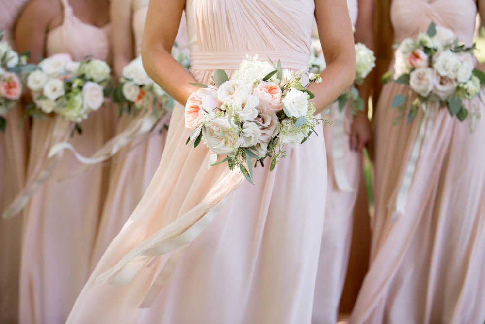 Niagara Wedding Blush Bridesmaids Bouquets Lush Florals