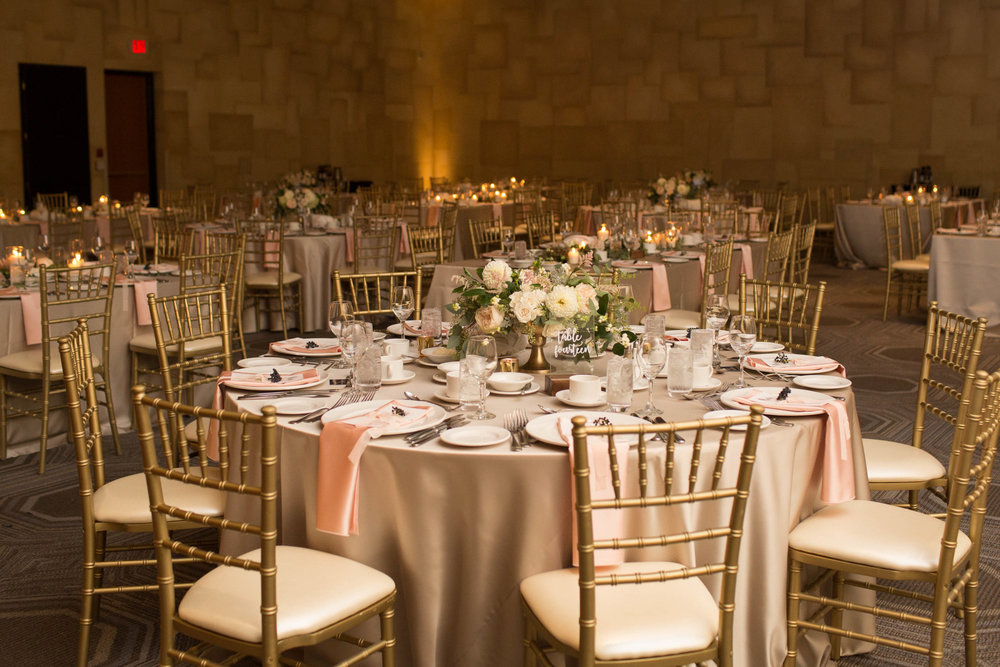 White Oaks Summer Wedding Guest Tables Gold Chiavari Chairs