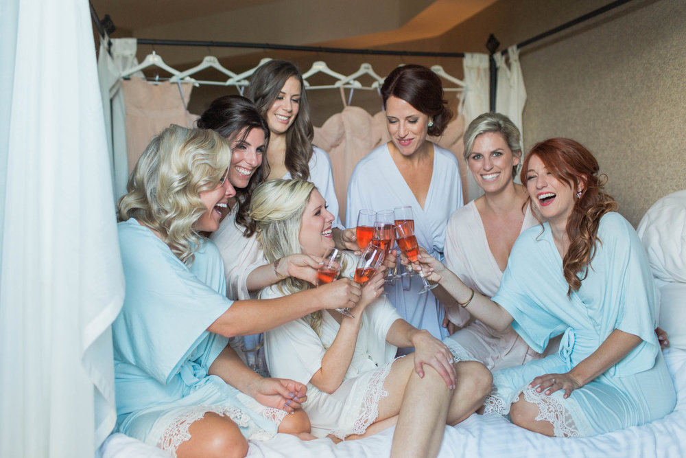 Amanda Cowley Events Niagara Wedding Planner White Oaks Bridesmaids Blush Robes
