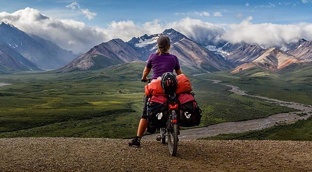 Denali National Park in one word:  Breathtaking!  To see us come up with a line of designs inspired by Denali National Park and it's wildlife, history and geography, scroll back 3 posts and list it in a comment.✌️⛰ Cheers! #StrayTgthr #GetOutThere  PC: @la2rad