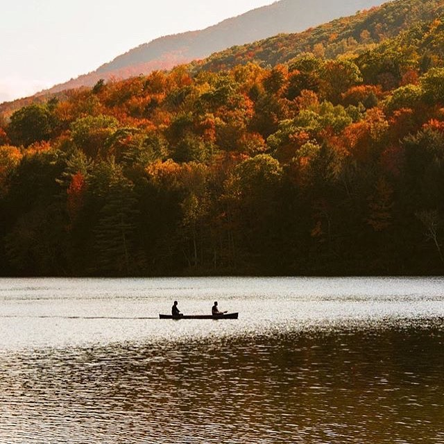 Fall in bloom in Vermont! #StrayTgthr 🛶🍂🍁 PC: @jeffarthur