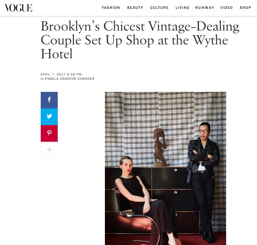 "Vogue.com   ""Brooklyn's Chicest Vintage-Dealing Couple"""