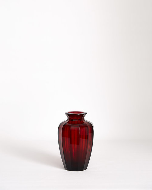 Josef Hoffman Cut Glass Vase Form Atelier