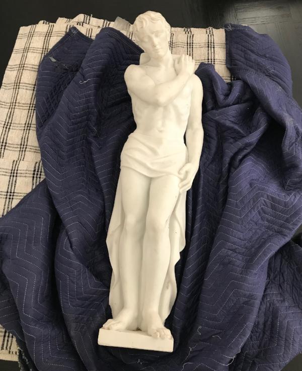 Art Deco Marble Statues Pair.JPG