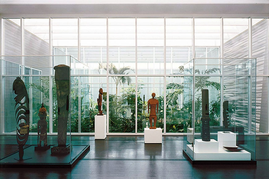 The African Art room at the Menil Collection, Houston