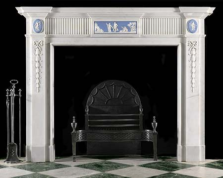 English Wedgwood marble fireplace