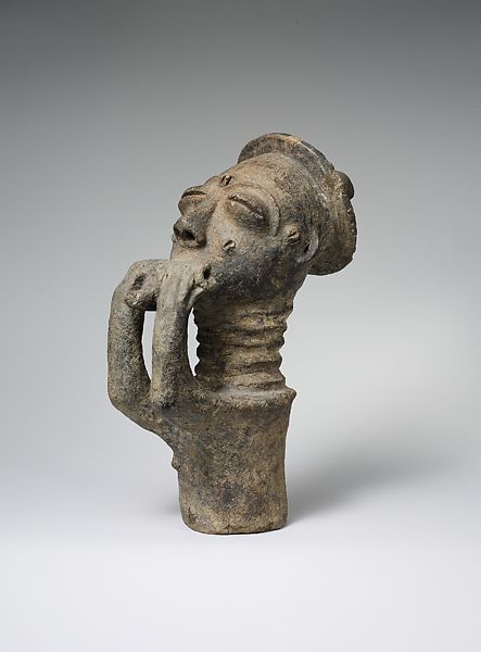 Memorial Figure of a Hornblower, Akan Peoples, 18th - Early 20th Century