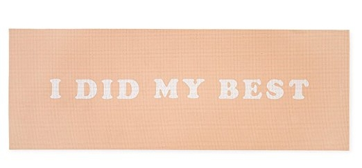 inally, a  yoga mat  we can all relate to.