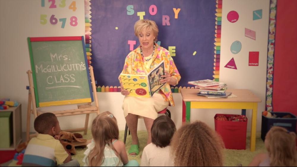 READING WITH MRS. MCGILLICUTTY- Cloris Leachman