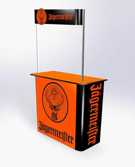 Relocatable pop-up bar for events and promotion Display design and manufacture | Visuals | Pack and despatch