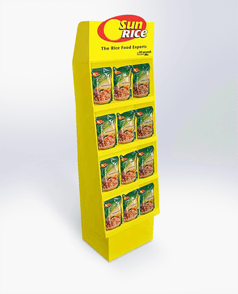 Cardboard grocery display Display design and manufacture | Visuals | Art | Print | Pack and despatch