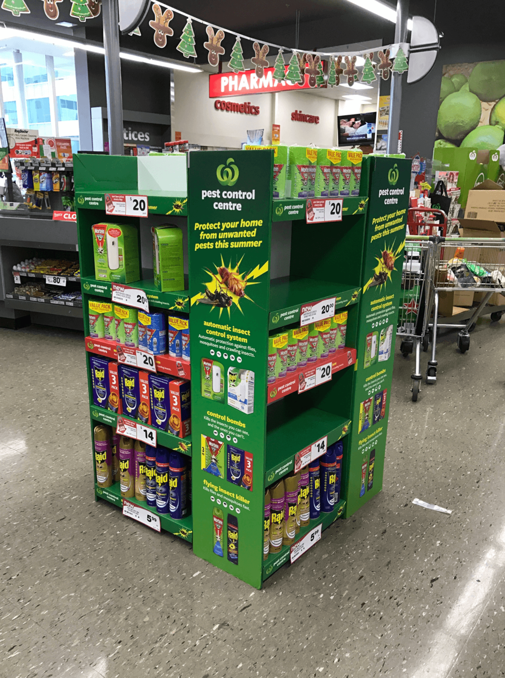 Cardboard grocery pallet display Display design and manufacture | Visuals | Art | Print | Kit, pack and despatch nationwide to retailers