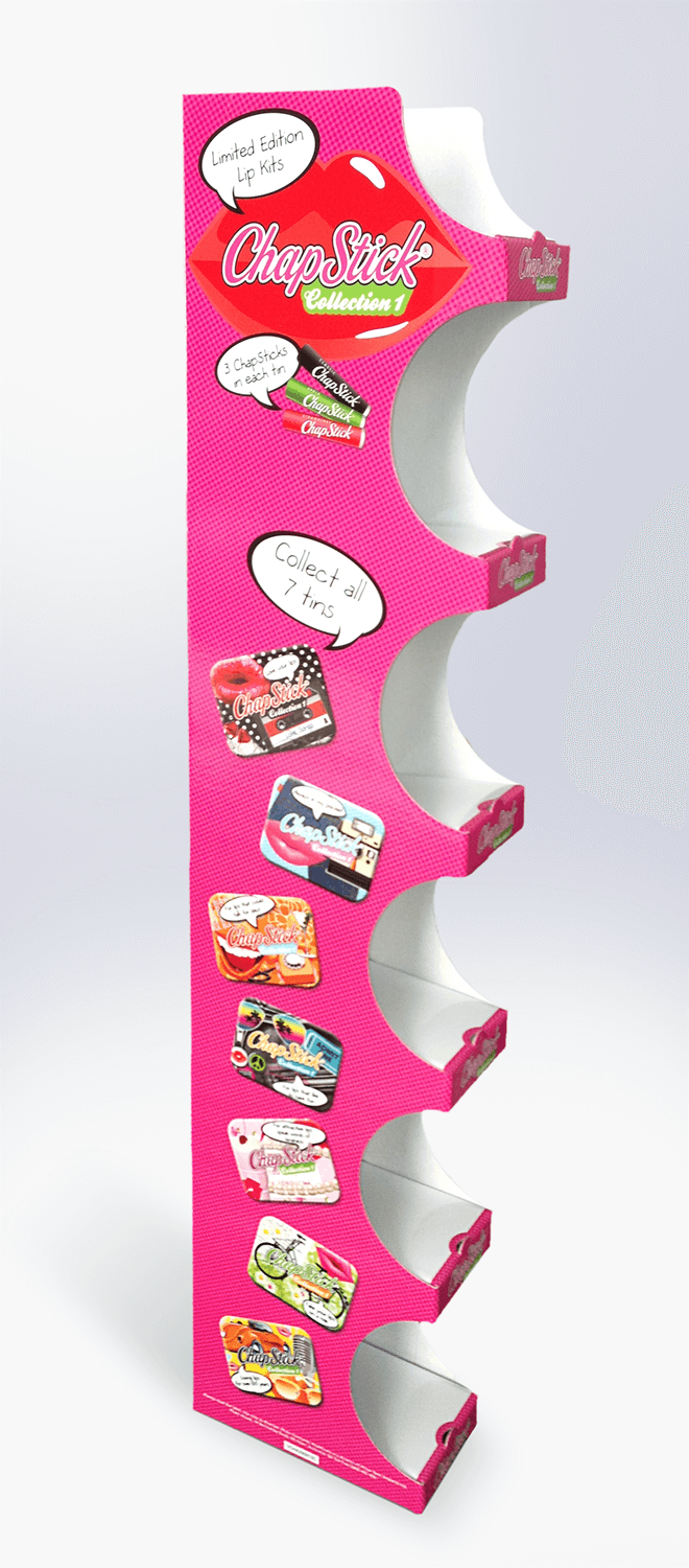 Cardboard hangsell unit Visuals | Art | Print and manufacture | Pack and despatch