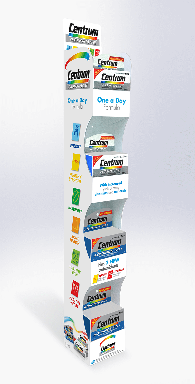 Cardboard hangsell unit for grocery Visuals | Art | Print and manufacture | Pack and bulk despatch