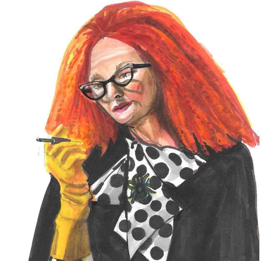 Illustration of Frances Conroy as Myrtle Snow from American Horror Story