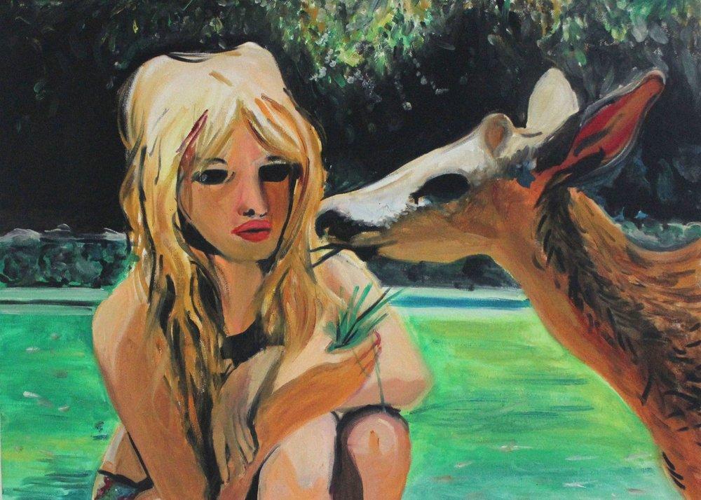 painting portrait of bridget bardot
