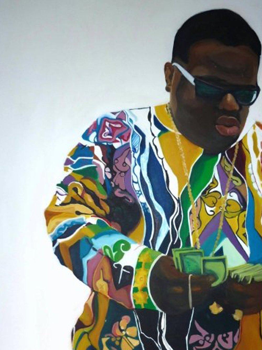 Notorious BIG portrait painting