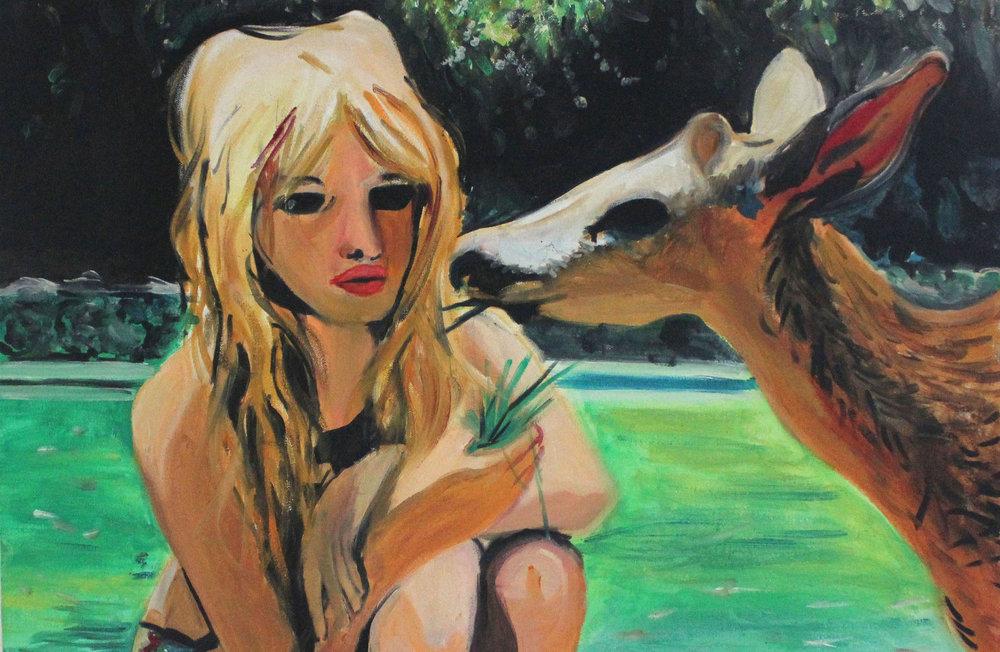 painting of bridgette bardot