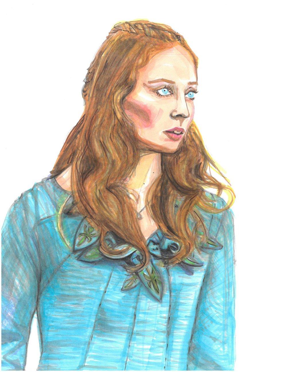 Sophie Turner as Sansa Stark, Season 1 Game of Thrones