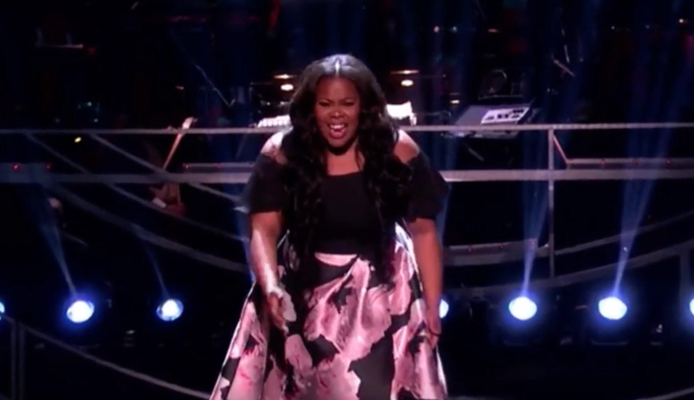 Amber Riley KNOCKS IT RIGHT OUT OF THE DAMN PARK at the Olivier Awards