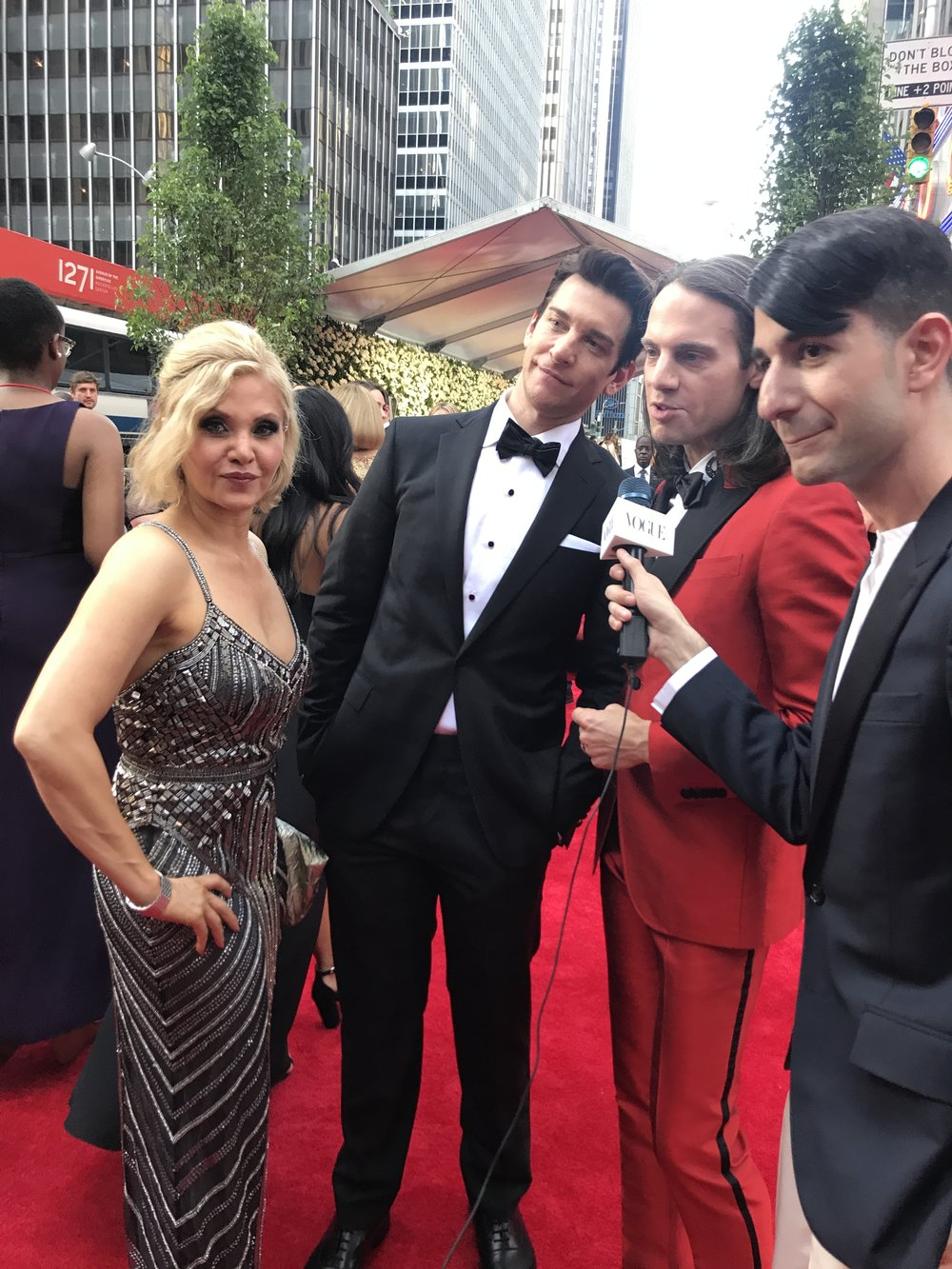 Groundhog Day 's Andy Karl and stunning wife Orfeh.
