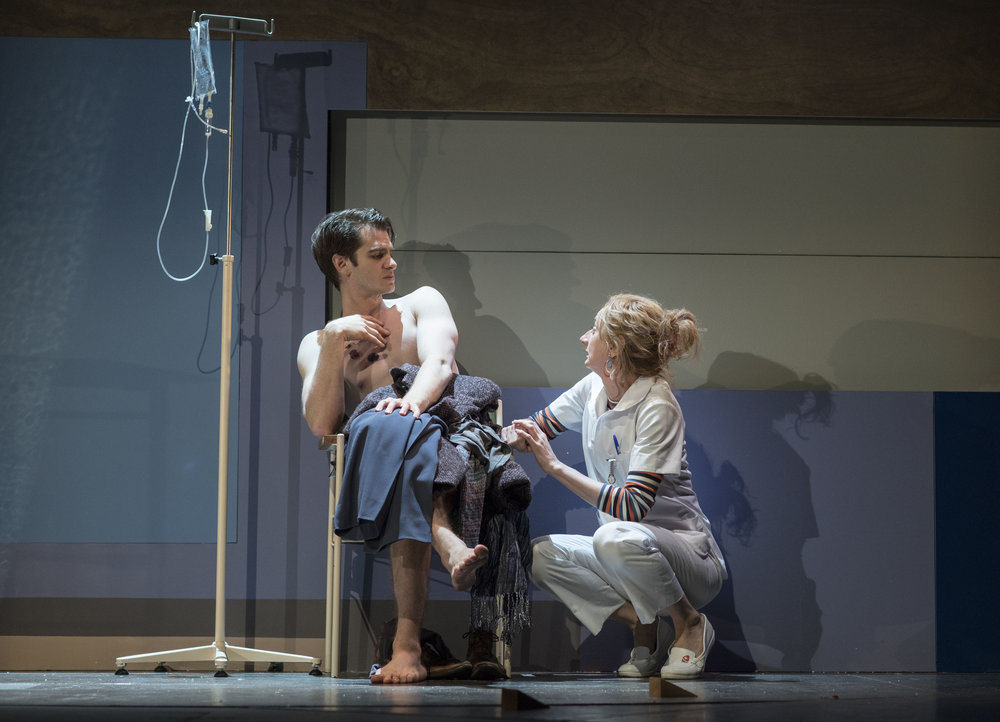 15. Andrew Garfield (Prior) and Amanda Lawrence (Emily) in Angels in America - Millenium Approches (c) Helen Maybanks.jpg