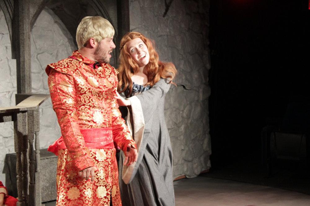 Randy Wade Kelly, Allison Lobel as Joffrey, Sansa.JPG