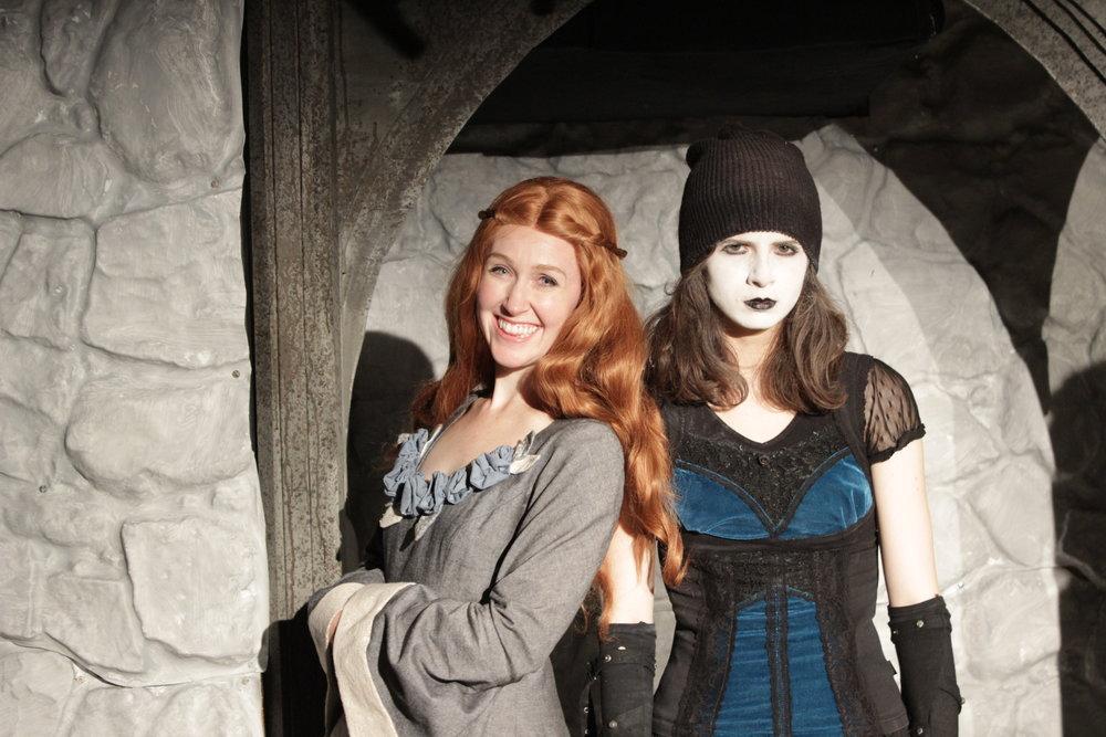Allison Lobel, Meghan Modrovsky as Sansa and Goth Arya.JPG
