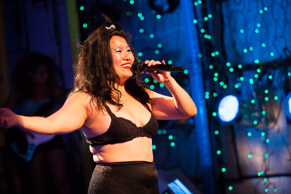 Diana Oh in {my lingerie play} at Rattlestick Playwrights Theater -photo by Jeremy Danie.jpg