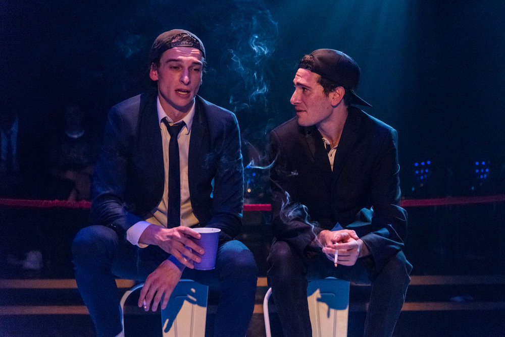 Riley Suter and Cory Asinofsky in Less Than Rent Theatre's FMK - photo by Russ Rowland.jpg