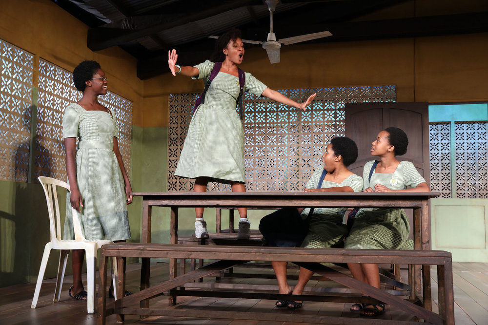 The cast of Jocelyn Bioh's  School Girls; Or The African Mean Girls Play.  Photo: Joan Marcus