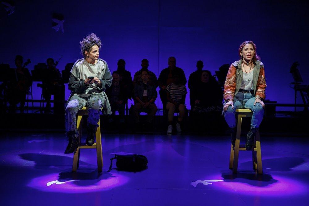 Gizel Jimenez and Daphne Rubin-Vega in  Miss You Like Hell . Photo: Joan Marcus