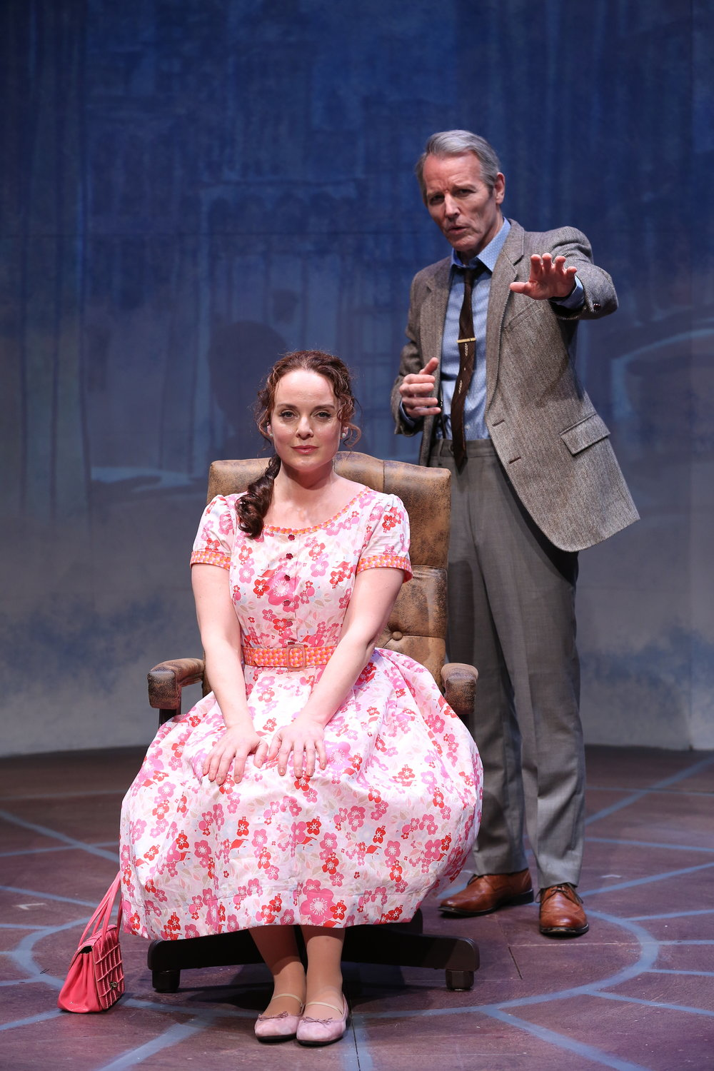 Melissa Errico and Stephen Bogardus in Irish Rep's ON A CLEAR DAY YOU CAN SEE FOREVER - Photo by Carol Rosegg.JPG