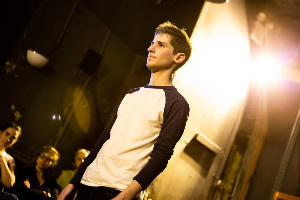 Noah Robbins in CLARKSTON, part of LEWISTON : CLARKSTON at Rattlestick Playwrights Theater - Photo by Jeremy Daniel.JPG