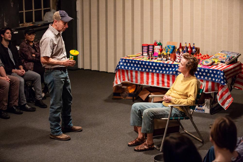 Arnie Burton and Kristin Griffith in LEWISTON, part of LEWISTON : CLARKSTON at Rattlestick Playwrights Theater - Photo by Jeremy Daniel.JPG