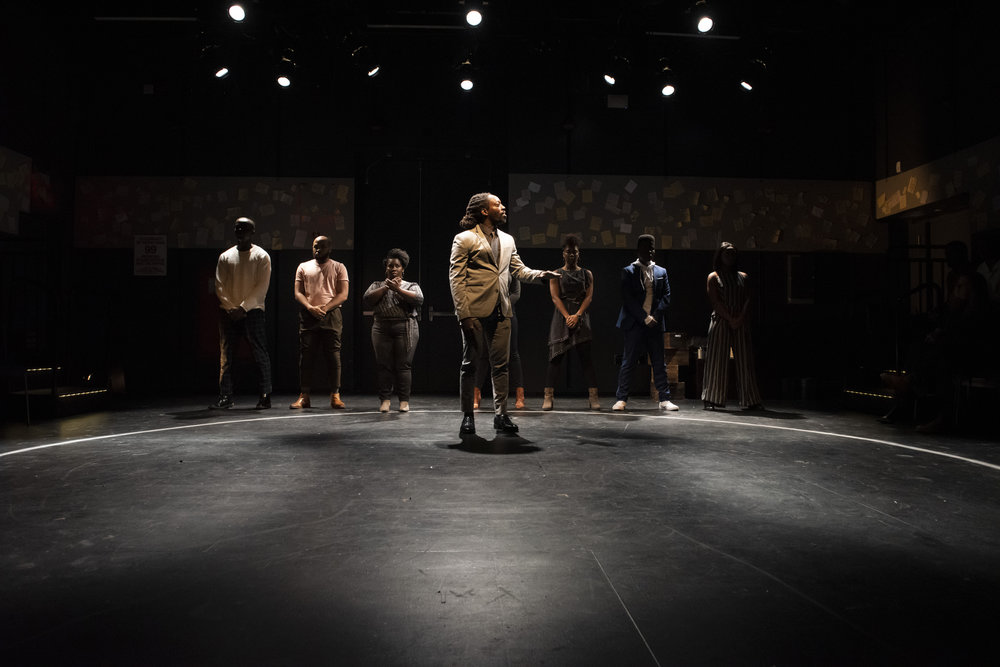 Kambi Gathesha and the Cast of WHAT TO SEND UP WHEN IT GOES DOWN. Photo by Ahron R. Foster.jpg