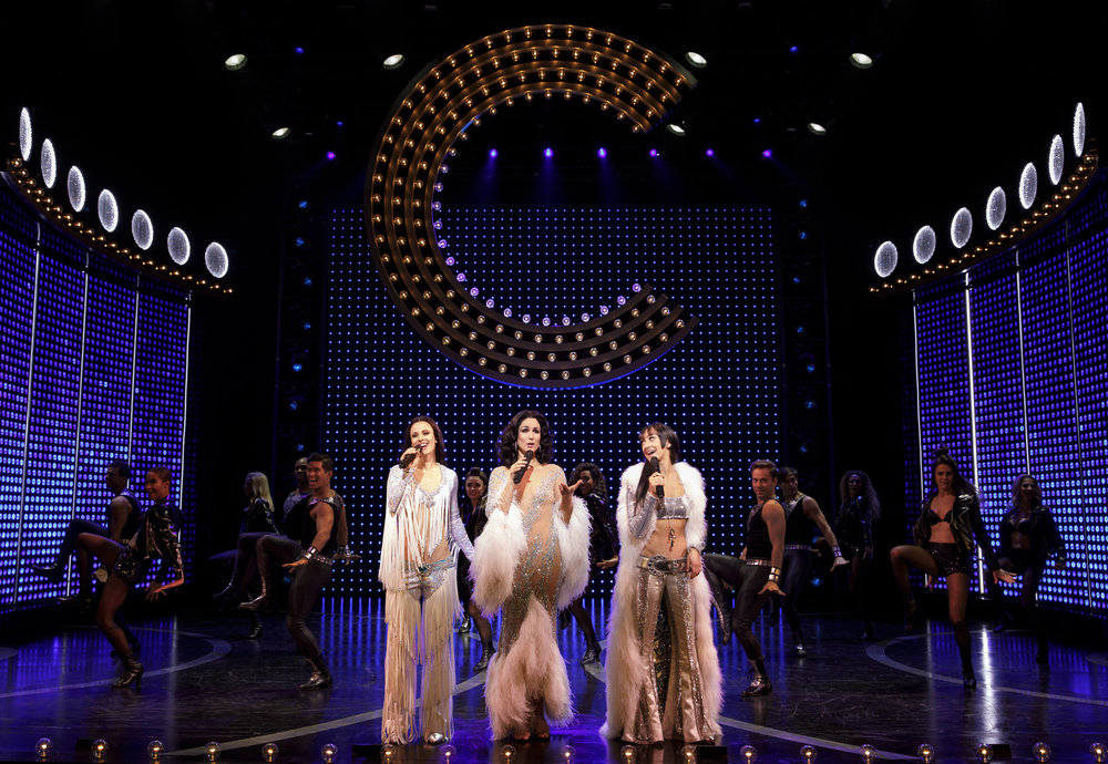 Teal Wicks as Lady, Stephanie J. Block as Lady, Micaela Diamond as Babe and the cast of THE CHER SHOW on Broadway - photo by Joan Marcus 1445r.jpg