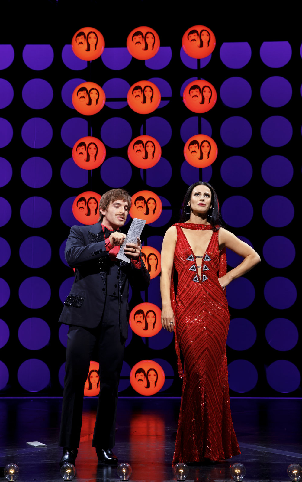 Jarrod Spector as Sonny Bono and Teal Wicks as Lady in THE CHER SHOW on Broadway - photo by Joan Marcus - 435r2.jpg