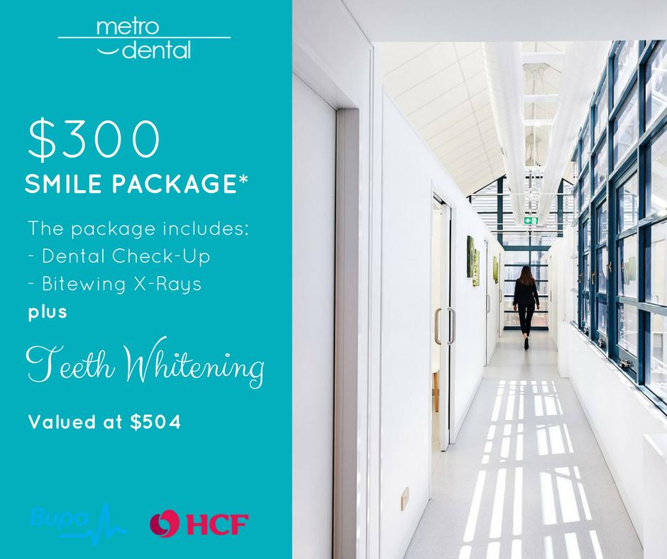 teeth whitening Melbourne package