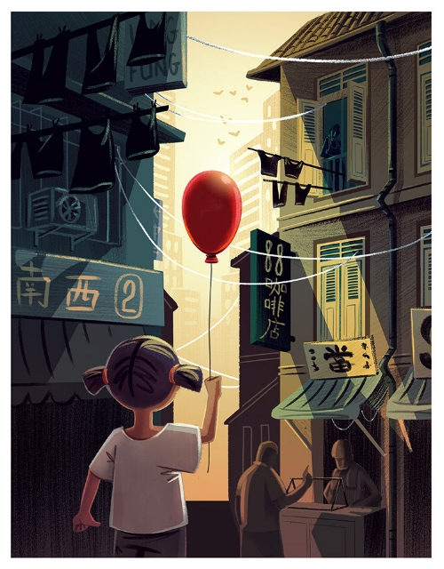 Girl with a Red Balloon  from Singapore Stories by Charlene Chua
