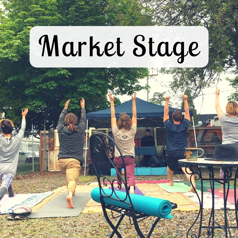Whit Market Yoga Sessions : 11am-12pm Open Mic : 12pm-3pm Featured Performance : 3pm-4pm