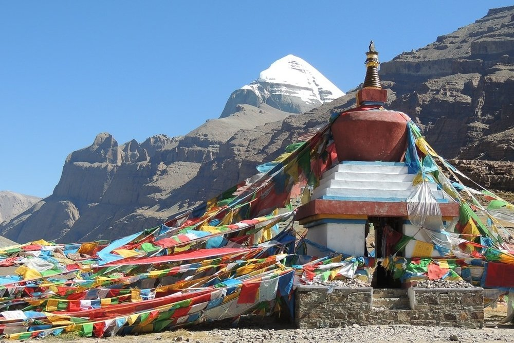 Mount Kailash - Believed by many to be Mount Meru - the centre of the universe - Kailash is surrounded by myth and legend. Completing the 3-day hike around this mountain is to Tibetan Buddhists what Mecca is to Muslims.