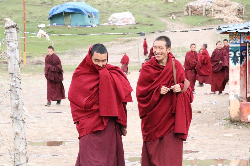 Monks at Sertri Monastery.