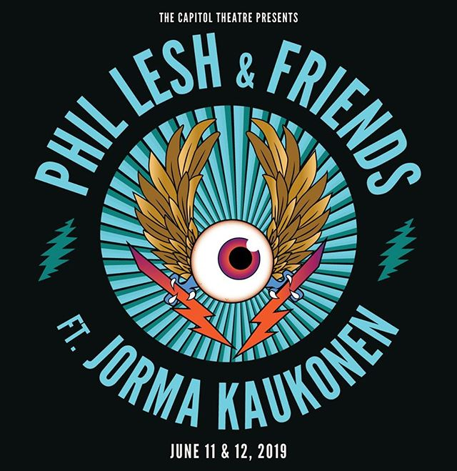 Dunno about you folks but we can't wait for Phil Lesh and Jorma Kaukonen to share the Cap Stage for another Romp into the forays of The Music of the Grateful Dead☠️⚡️🛩!!!⠀ .⠀ .⠀ .⠀ .⠀ #grateful #gratefuldead  #phillesh #phil #lesh #jorma #kaukonen #capitol #theatre #cap #hog #squirrel #airplane #jeffersonairplane #dead #gd #tour #songs #music #art #jams #portchester #friends #livemusic #live