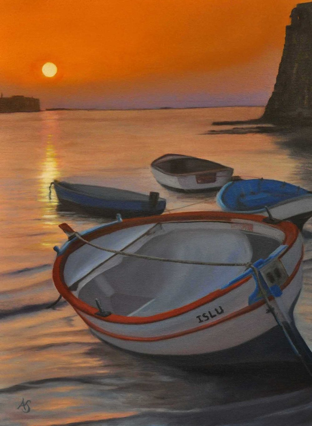 Day's End, 18x24 - SOLD