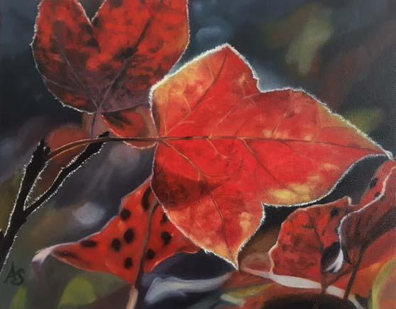 Fall Leaves 2, 11x14 - $225