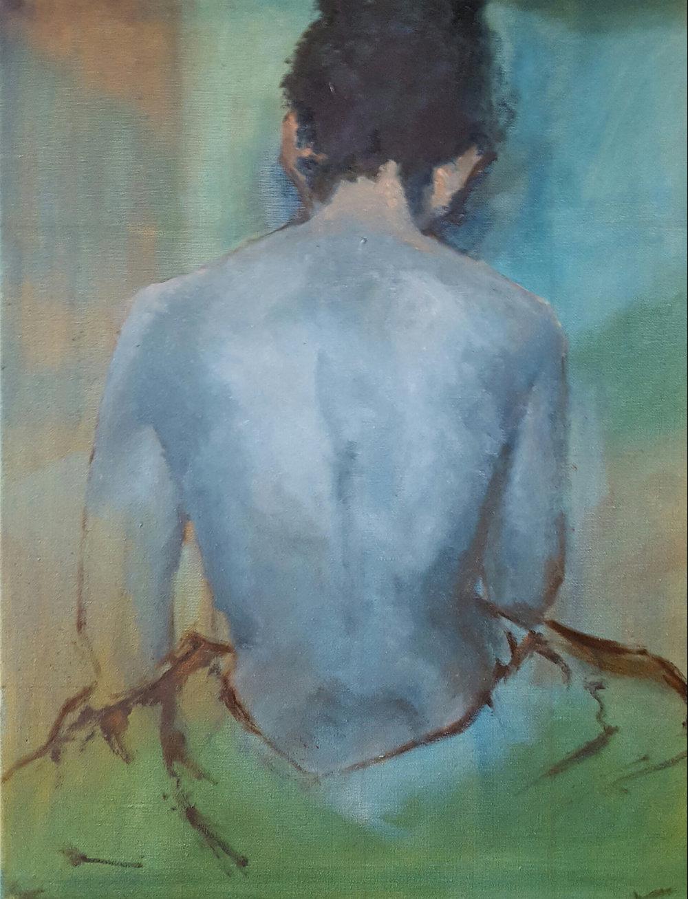 Blue Nude, 16x20 - $400