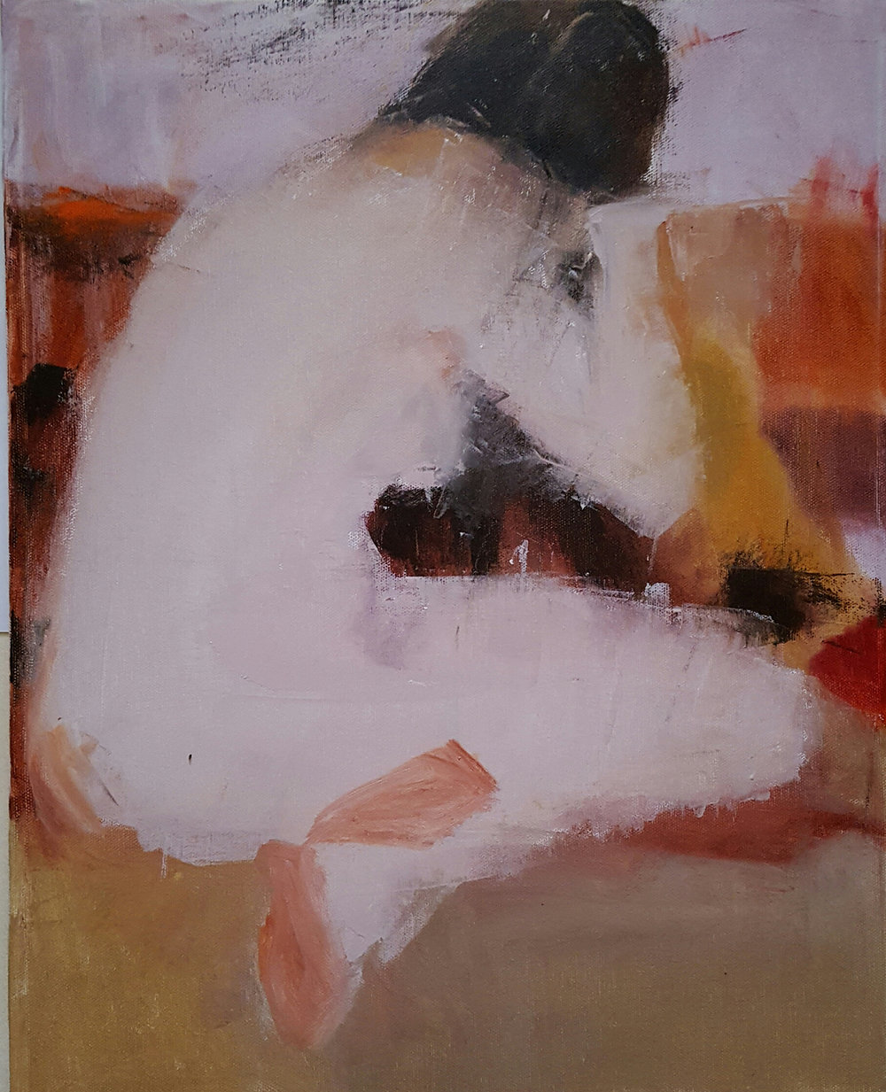 Sitting Nude Abstract, 16x20 - $400