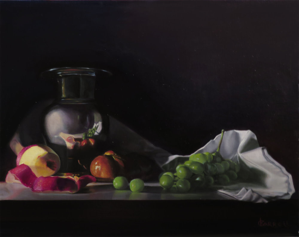 "Kathleen Carroll,""Vase with Fruit"""