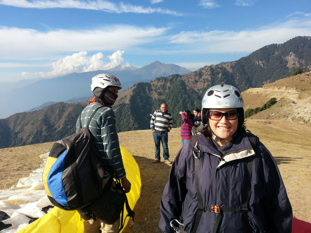 This is mum in india when she went paragliding.